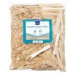 Metro Professional Fork Wooden for Snacks 100pcs 8,5cm