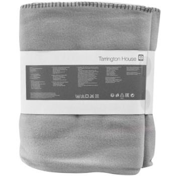 Tarrington House Fleece Blanket Silver 200X220cm