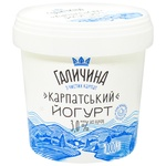 Galychyna Carpathian Sugar-Free Yogurt 3% 1kg - buy, prices for CityMarket - photo 1