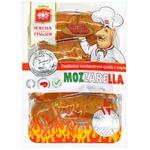 Ковбаски М'ясна гільдія Mozzarella напівкопчені гриль з сиром