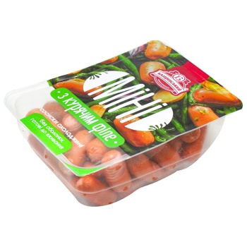Bashchynskyi Mini Sausages with Chicken Fillet 900g - buy, prices for Metro - photo 1