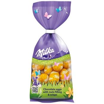 Яйца шоколадные Milka с орехами и хрустящими хлопьями 100г