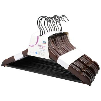 Вешалка Aro деревянная коричневая 12шт