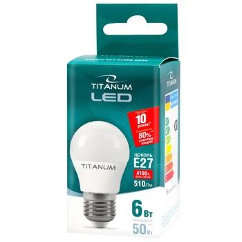 Titanium LED lamp G45 5W E27 4100K