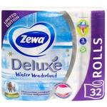 Туалетний папір Zewa Deluxe Winter Wonderland тришаровий 32шт