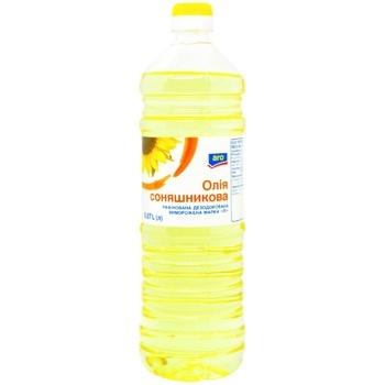 Масло Aro подсолнечное рафинированное 0,87л - купить, цены на Метро - фото 1
