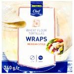 Metro Chef Wraps Wheat Flour Tortillas 25cm х 12pcs