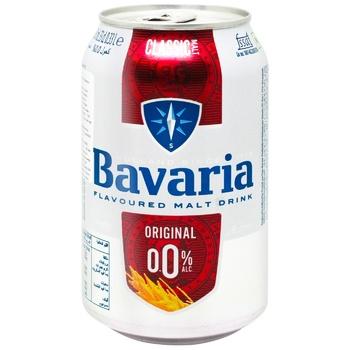 Пиво Bavaria світле безалкогольне 0% 0,33л - купити, ціни на Ашан - фото 1