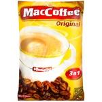 Напій кавовий MacCoffee Original 3в1 розчинний у пакетиках 50*20г