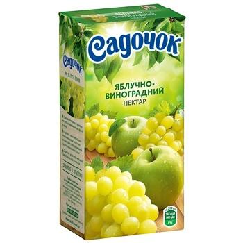 Нектар Садочок яблучно-виноградний 0,5л - купити, ціни на CітіМаркет - фото 1