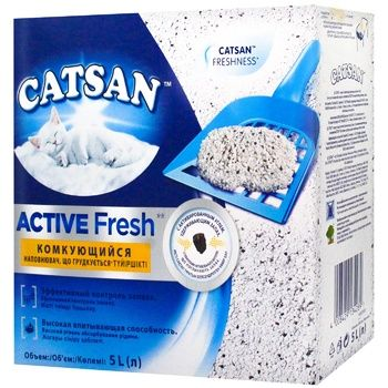 Catsan Active Fresh Clumping Filler for Cat Toilet 5l - buy, prices for CityMarket - photo 1