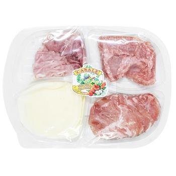 Закуска Casale Прошутто, Салями Милано, Проволоне 160г - купить, цены на Метро - фото 2