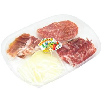 Закуска Casale Прошутто, Салями Милано, Проволоне 160г - купить, цены на Метро - фото 1