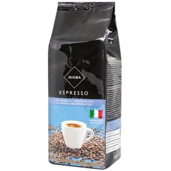 Кава Rioba Espresso без кофеїну в зернах 500г