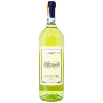 Вино Il Carpino Frascati белое сухое 12,5% 0,75л