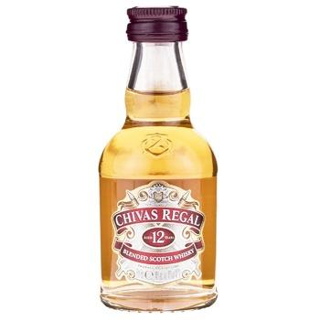 Chivas 12urs whisky 40% 50ml - buy, prices for CityMarket - photo 1