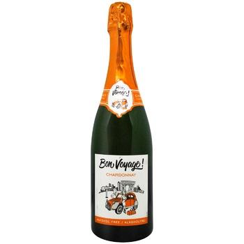 Шампанское безалкогольное Bon Voyage! Шардоне игристое белое полусладкое 0,75л