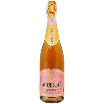 Artwinery Artemivske Sparkling wine rose semi-dry 13,5% 0,75l - buy, prices for CityMarket - photo 1