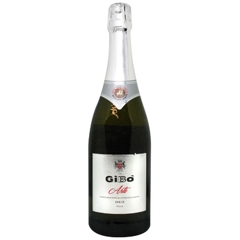 Вино игристое Gi.Bo Asti белое сладкое 7% 0,75л