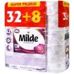 Туалетний папір Milde Relax Purple тришарова 40шт