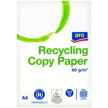 Бумага Aro для копирования A4 светло-серая эко 80г/м 500шт