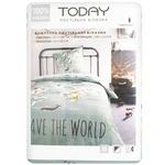 Комплект постельного белья Today Карта мира односпальный 110х160см