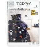 Комплект постельного белья Today Космос односпальный 110х160см