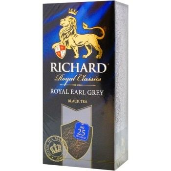 Richard Earl grey black tea 25pcs*2g - buy, prices for Auchan - photo 2