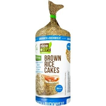 Rice Up! Brown Rice Cakes with Amaranth & Buckwheat 120g