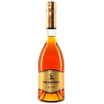 Sarajishvili 3 stars Cognac 40% 0,5l - buy, prices for CityMarket - photo 1