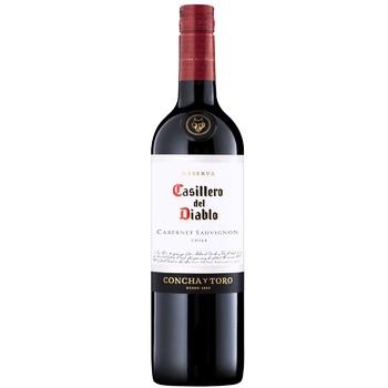 Вино Casillero del Diablo Reserva Каберне-Совіньйон червоне сухе 13,5% 0,75л