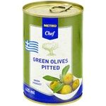 Metro Chef green pitted olive 425ml