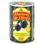 Маслины Maestro de Oliva Супергигант с/к ж/б 425г - купить, цены на Novus - фото 2
