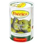 Оливки зеленые Iberica без косточки 420г