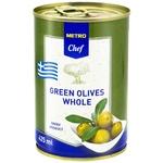 Оливки зелені METRO Chef з кісточкою 425мл