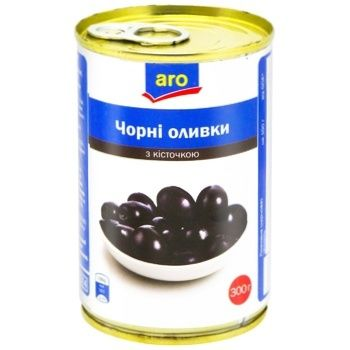Aro Black Olive with Pits 314ml