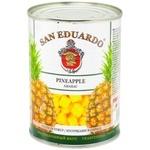 San Eduardo Pineapple pieces in syrup 580ml