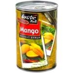 Фрукти консервовані Exotic Food манго в легкому сиропі 420г