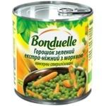 Горошек Bonduelle зеленый экстра-нежный с морковью 400г