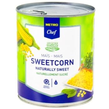 Кукуруза сахарная METRO Chef вакуумированная 850мл