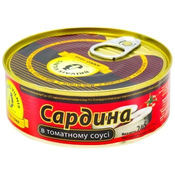 Сардины Бривайс Вильнис в томатном соусе 240г