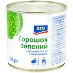 Горошек зеленый Aro из мозговых сортов стерилизованный 420г