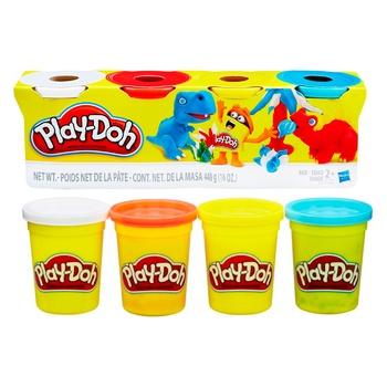 Игровой набор Hasbro Play-Doh тесто для лепки 4 баночки 448г - купить, цены на Novus - фото 2