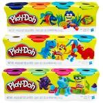 Игровой набор Hasbro Play-Doh тесто для лепки 4 баночки 448г - купить, цены на Novus - фото 1