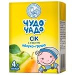 Chudo-Chado apple-pear juice with pulp for children from 4 months 200ml