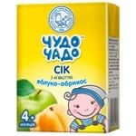 Chudo-Chado apple-apricot juice with pulp for children from 4 months 200ml