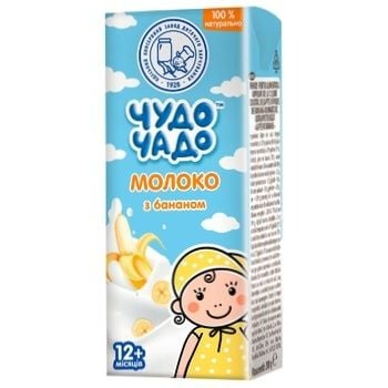 Молоко с бананом Чудо-Чадо от 12-ти месяцев 200мл