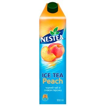 Чай чорний холодний Nestea Ice Tea зі смаком персику 950мл - купити, ціни на Ашан - фото 1