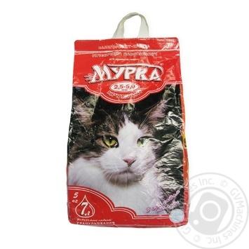 Наполнитель Мурка для кошек крупный с ароматом лаванды 5кг
