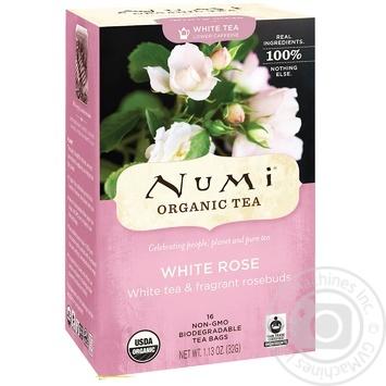 Чай білий Numi органічний біла троянда 16шт*2г